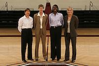 01 October 2007: (L-R): Tara VanDerveer, Amy Tucker, Bobbie Kelsey, and Kate Paye.