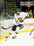 29 January 2010: University of Vermont Catamount forward David Pacan, a Freshman from Ottawa, Ontario, in second period action against the University of Maine Black Bears at Gutterson Fieldhouse in Burlington, Vermont. The Black Bears defeated the Catamounts 6-3 in the first game of their America East weekend series. Mandatory Credit: Ed Wolfstein Photo