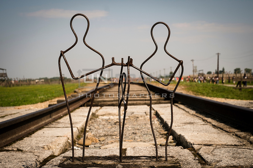 70th anniversary of Roma genocide. The rail tracks leading into the camp.