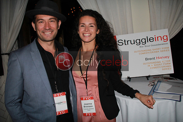 "Brent Harvey, Joanna Bronson<br /> at the ""Struggleing"" For Your Consideration event hosted by A. Whole Productions and Brent Harvey Films, Crossroads Kitchen, Los Angeles, CA 06-06-18<br /> David Edwards/DailyCeleb.com 818-249-4998"