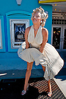 Forever Marilyn statue by J. Seward Johnson outside Tropic Cinema with 24/7 web cam, Key West, Florida, USA, Feb. 22, 2011... Photo by Debi Pittman Wilkey