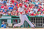 30 August 2015: Washington Nationals outfielder Michael Taylor in action against the Miami Marlins at Nationals Park in Washington, DC. The Nationals rallied to defeat the Marlins 7-4 in the third game of their 3-game weekend series. Mandatory Credit: Ed Wolfstein Photo *** RAW (NEF) Image File Available ***