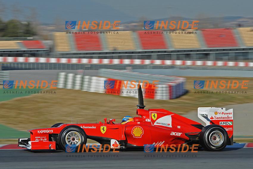 FERNANDO ALONSO (SPA) - FERRARI F151.22-02-2012 Montelo Barcelona (Esp).Formula 1 Test 2012.Foto Insidefoto / Gilles Levent / Insidefoto. .ITALY ONLY
