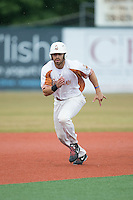 Jordan Winawer (27) of the Asheboro Copperheads takes off for third base during the game against the Gastonia Grizzlies at McCrary Park on June 1, 2015 in Asheboro, North Carolina.  The Copperheads defeated the Grizzlies 11-6. (Brian Westerholt/Four Seam Images)
