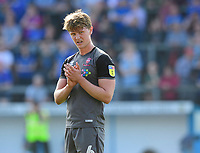 Lincoln City's Mark O'Hara applauds the fans at the final whistle<br /> <br /> Photographer Chris Vaughan/CameraSport<br /> <br /> The EFL Sky Bet League Two - Carlisle United v Lincoln City - Friday 19th April 2019 - Brunton Park - Carlisle<br /> <br /> World Copyright © 2019 CameraSport. All rights reserved. 43 Linden Ave. Countesthorpe. Leicester. England. LE8 5PG - Tel: +44 (0) 116 277 4147 - admin@camerasport.com - www.camerasport.com