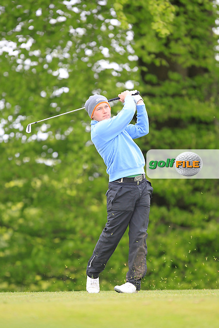 M. McCusker (Hollywood) on the 5th Tee during the Mullingar Scratch Trophy Day 1at Mullingar Golf Club Belvedere 18th May 2013.Picture: Thos Caffrey www.golffile.ie...