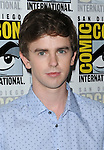 Freddie Highmore arriving at the Bates Motel Panel at Comic-Con 2014 The Hilton Bayfront Hotel in San Diego, Ca. July 25, 2014.