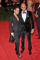 Alicia Keys and Swizz Beats at the 'Schiaparelli And Prada: Impossible Conversations' Costume Institute Gala at the Metropolitan Museum of Art on May 7, 2012 in New York City. © mpi03/MediaPunch Inc.