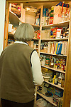 Woman at pantry door