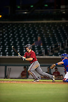 AZL Diamondbacks Buddy Kennedy (43) follows through on his swing against the AZL Cubs on August 11, 2017 at Sloan Park in Mesa, Arizona. AZL Cubs defeated the AZL Diamondbacks 7-3. (Zachary Lucy/Four Seam Images)