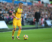 4th November 2017, Liberty Stadium, Swansea, Wales; EPL Premier League football, Swansea City versus Brighton and Hove Albion; Anthony Knockaert of Brighton with the ball