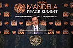 Opening Plenary Meeting of the Nelson Mandela Peace Summit<br /> <br /> His Excellency Tommy Esang REMENGESAUPresident of the Republic of Palau