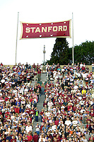 Fans show support for the US in response to the tragedy that struck the nation on Sep. 11, 2001 during Stanford's 51-28 victory over ASU on September 22, 2001 at Stanford Stadium.<br />Photo credit mandatory: Gonzalesphoto.com