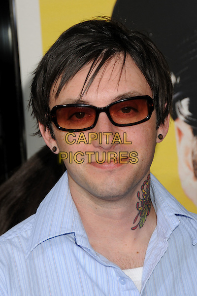 "JESSE CHARLAND of Hoobastank.""Observe And Report"" Los Angeles Premiere held at Grauman's Chinese Theatre, Hollywood, CA., USA..April 6th, 2009.headshot portrait tattoo sunglasses shades .CAP/ADM/BP.©Byron Purvis/AdMedia/Capital Pictures."