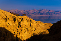 View from En Gedi Nature Reserve to the Dead Sea, Israel.