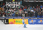 December 3, 2011: Red Tail finish stadium for the Super-G at the Audi Birds of Prey FIS World Cup ski championships at Beaver Creek Ski Resort, Colorado.  Vail-Beaver Creek will host the 2015 FIS World Championships