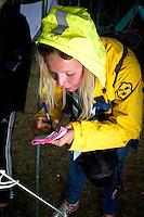 The star reporter. Photo: Mikko Roininen / Scouterna