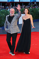 Terry Gilliam and his wife Maggie Weston attend the red carpet for the premiere of the movie 'A Bigger Splash' during the 72nd Venice Film Festival at the Palazzo Del Cinema in Venice, Italy, September 6, 2015. <br /> UPDATE IMAGES PRESS/Stephen Richie