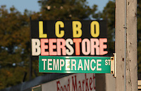 Conflicting Signs Indicating Temperance and Alcohol Consumption