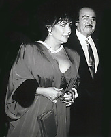 Elizabeth Taylor & Adnan Khashoggi 1981<br /> Photo By John Barrett-PHOTOlink.net