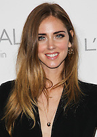 BEVERLY HILLS, CA, USA - OCTOBER 20: Chiara Ferragni arrives at ELLE's 21st Annual Women In Hollywood held at the Four Seasons Hotel on October 20, 2014 in Beverly Hills, California, United States. (Photo by Celebrity Monitor)