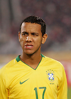 Brazil's Souza (17) stands on the pitch before the game against Costa Rica during the FIFA Under 20 World Cup Semi-final match at the Cairo International Stadium in Cairo, Egypt, on October 13, 2009. Brazil won the match  1-0.