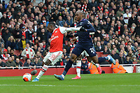 Edward Nketiah of Arsenal FC shoots during Arsenal vs West Ham United, Premier League Football at the Emirates Stadium on 7th March 2020