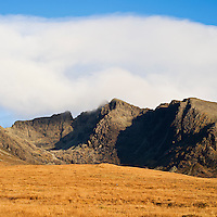 Black Cuillin hills as seen from Glenbrittle, Isle of Skye, Scotland