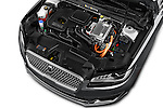 Car Stock 2017 Lincoln MKZ Hybrid-Select 4 Door Sedan Engine  high angle detail view