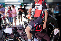 Michael Gogl (AUT/Trek-Segafredo) cooling down ahead of his TT warm-up<br /> <br /> Stage 21 (ITT): Verona to Verona (17km)<br /> 102nd Giro d'Italia 2019<br /> <br /> ©kramon