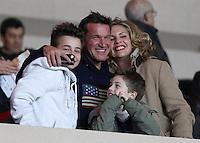Benjamin Castaldi and family attend Monaco VS PSG football match - Monaco