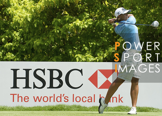SINGAPORE - MARCH 08:  Katherine Hull of Australia tees of on the par four 6th hole during the final round of HSBC Women's Champions at the Tanah Merah Country Club on March 8, 2009 in Singapore.  Photo by Victor Fraile / The Power of Sport Images
