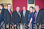GAA President Liam O'Neill with Cordal GAA committee at the GAA SuperValu  Club community award dinner at Cordal on Thursday night front row l-r: Richard O'Donoghue, Tom Wrenn Chairman, Liam O'Neill, Nora Fealey PROand Charlie Farrelly