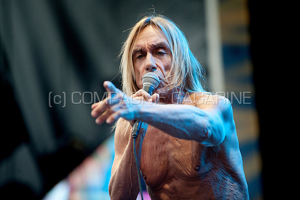 American punk band Iggy Pop & The Stooges in concert at the second day of the Suikerrock festival in Tienen (Belgium, 29/07/2011)