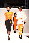 Collection by Koda Choi. Ravensbourne College Fashion Show 2011 with collections from graduate fashion students.