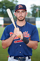 Danville Braves infielder Beau Philip (4) poses for a photo prior to the game against the Pulaski Yankees at Calfee Park on June 30, 2019 in Pulaski, Virginia. The Braves defeated the Yankees 8-5 in 10 innings.  (Brian Westerholt/Four Seam Images)
