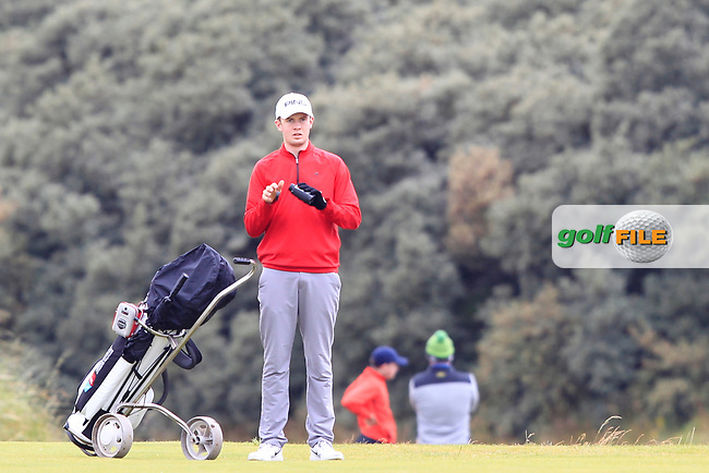 Harry Gillivan during Round 2 of the North of Ireland Amateur Open Championship 2019 at Portstewart Golf Club, Portstewart, Co. Antrim on Tuesday 9th July 2019.<br /> Picture:  Thos Caffrey / Golffile<br /> <br /> All photos usage must carry mandatory copyright credit (© Golffile   Thos Caffrey)