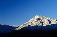 mountains above Lake Crescent in winter