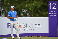 Brooks Koepka (USA) looks over his tee shot on 12 during round 4 of the WGC FedEx St. Jude Invitational, TPC Southwind, Memphis, Tennessee, USA. 7/28/2019.<br /> Picture Ken Murray / Golffile.ie<br /> <br /> All photo usage must carry mandatory copyright credit (© Golffile | Ken Murray)
