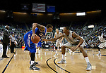 March 3, 2012:   Nevada Wolf Packs Devonte Elliott guards Louisiana Tech Bulldogs Trevor Gaskins during their NCAA basketball game played at Lawlor Events Center on Saturday night in Reno, Nevada.