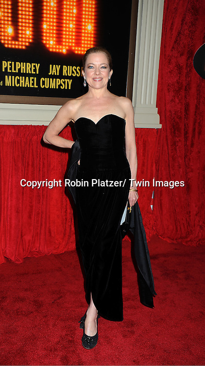 """Isabel Keating arrives at the """"End Of The Rainbow"""" Broadway opening night at The Belasco Theatre in New York City on April 2, 2012. The show stars Tracie Bennett, Tom Pelphrey, Michael Cumptsy and Jay Russell."""