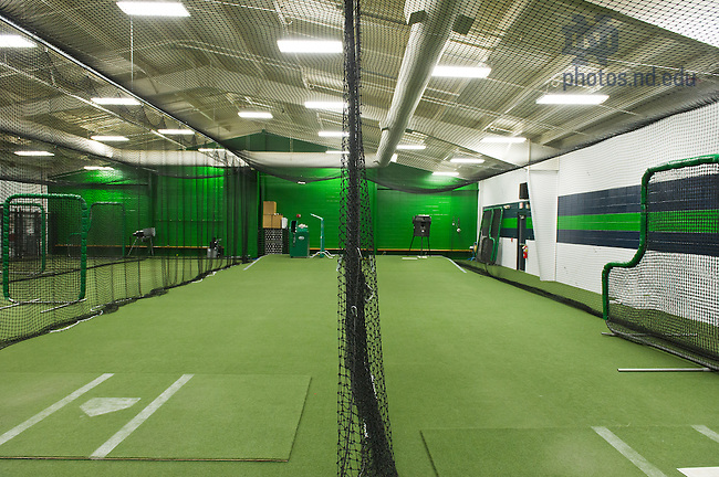 Feb. 11, 2013; Eck Baseball indoor practice facility..Photo by Matt Cashore/University of Notre Dame