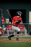 Erie SeaWolves center fielder Danny Woodrow (10) flies out during a game against the Harrisburg Senators on August 29, 2018 at FNB Field in Harrisburg, Pennsylvania.  Harrisburg defeated Erie 5-4.  (Mike Janes/Four Seam Images)