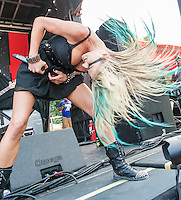 Butcher Babies at Mayhem Fest 2013 in Atlanta, GA.