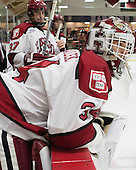 Desmond Bergin (Harvard - 37), Steve Michalek (Harvard - 34) - The Harvard University Crimson defeated the Princeton University Tigers 3-2 on Friday, January 31, 2014, at the Bright-Landry Hockey Center in Cambridge, Massachusetts.