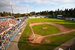 "The Vancouver Canadians Baseball Team play at Nat Bailey Stadium.  Nat Bailey Stadium has often been referred to as the ""prettiest little ballpark in North America"" - one trip to the 57-year-old stadium and fans start to see why..Spectators are right on top of the action die to the narrow foul territory in the park. They are also treated to one of the few manual scoreboards still in operation as well as the picturesque backdrop of Queen Elizabeth Park..Built in 1951, it was originally named Capilano Stadium after a local brewery. Triple-A class baseball laws not played there until the Vancouver Mounties entered the Pacific Coast League in 1956. After Vancouver's first foray in Class AAA ball ended in 1969, the stadium was used for local soccer and other events."
