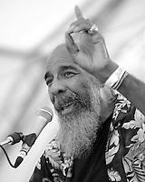 Woodstock legend Richie Havens at Jazz Festival. Kaslo, BC.