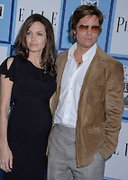 20 September 2016 - Los Angeles, CA - Angelina Jolie Pitt has filed for divorce from Brad Pitt. Jolie Pitt, 41, filed legal docs Monday citing irreconcilable differences. Jolie Pitt requested physical custody of the couple's shared six children – Maddox, Pax, Zahara, Shiloh, Vivienne, and Knox – asking for Pitt to be granted visitation, citing legal documents. File Photo: 23 February 2008, Santa Monica, California - Angelina Jolie and Brad Pitt. 23rd Film Independent Spirit Awards held at the Santa Monica Beach. Photo Credit: Gary Boas/AdMedia