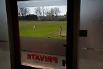 An interior view of the ground before Ilkeston Town host Walsall Wood in a Midland Football League premier division match at the New Manor Ground, Ilkeston. The home team were formed in 2017 taking the place of Ilkeston FC which had been wound up earlier that year. Watched by a crowd of 1587, their highest of the season, the match was top versus second, however, the visitors won 4-0 and replaced their hosts at the top of the division on goal difference with two matches to play