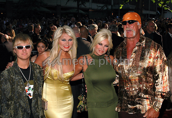 23June 2005 - New York, New York - Hulk Hogan and family arrive at the New York premiere of the new film, &quot;War Of The Worlds&quot; at the Ziegfeld Theater.<br />
